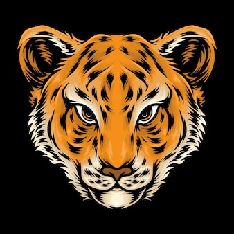 Симпатичная голова тигренка