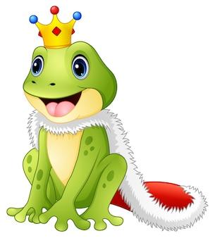 Симпатичная король лягушка мультфильм