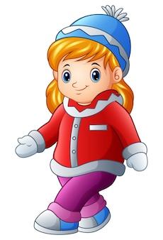 Симпатичная девушка в зимней одежде