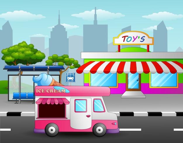 子供たちがアイスクリームを買いたい