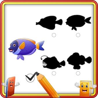 Теневое совпадение рыбы