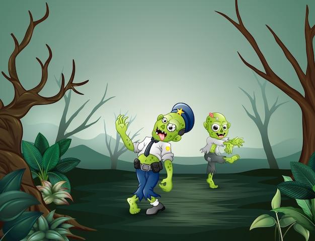 死んだ森の漫画ゾンビ