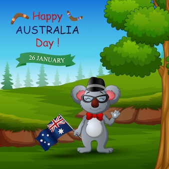 自然にコアラと幸せなオーストラリアの日