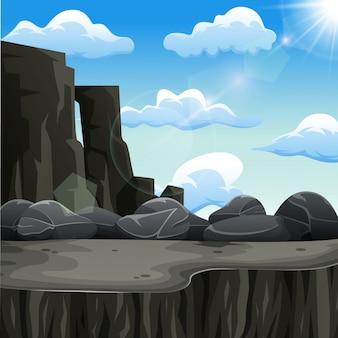 Скалы в солнечный день