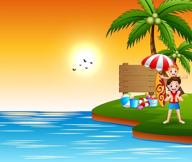 海で夏休み