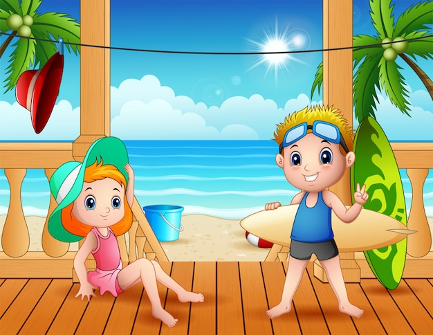 ビーチの風景の夏休み