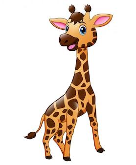 Милый ребенок жираф мультфильм животных