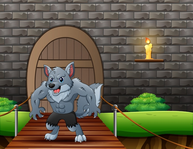 吊り橋の漫画狼