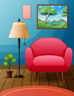 椅子と家具のあるシンプルな部屋