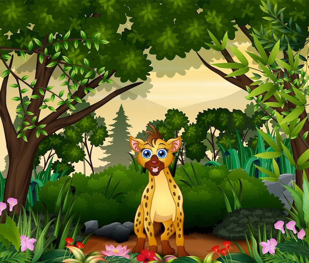 Мультфильм гиены, живущий в джунглях