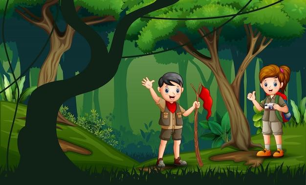 Молодые походы в лес ночью