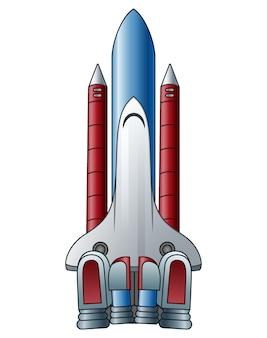 白い背景のスペースシャトル