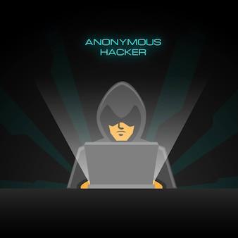 Анонимный хакерский фон