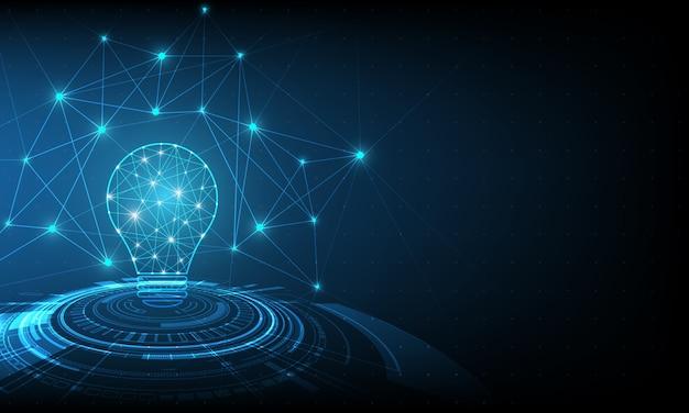 Вектор круг технологий с голубым