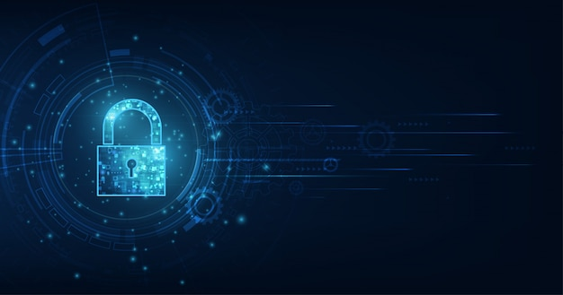 個人データセキュリティの鍵穴付き南京錠アイコンサイバーデータまたは情報プライバシーのアイデアを示します。
