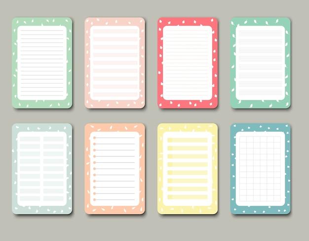 ノート、日記、ステッカー、その他のテンプレートのデザイン要素