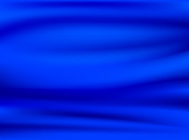 Складка из атласной синей и шелковой ткани на концептуальных фонах дизайна