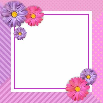 花とスタイリッシュな挨拶状