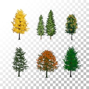 透明な背景のイラストツリー