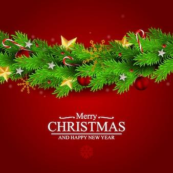 抽象的な休日の新年とメリークリスマスカード