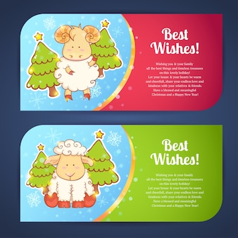 Симпатичная зимняя китайская новогодняя открытка