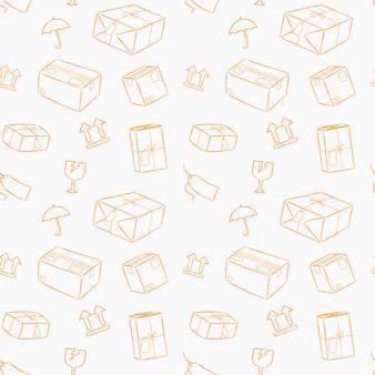 注意して小包サービス処理には、スタイルのシームレスなパターンが描画されます。