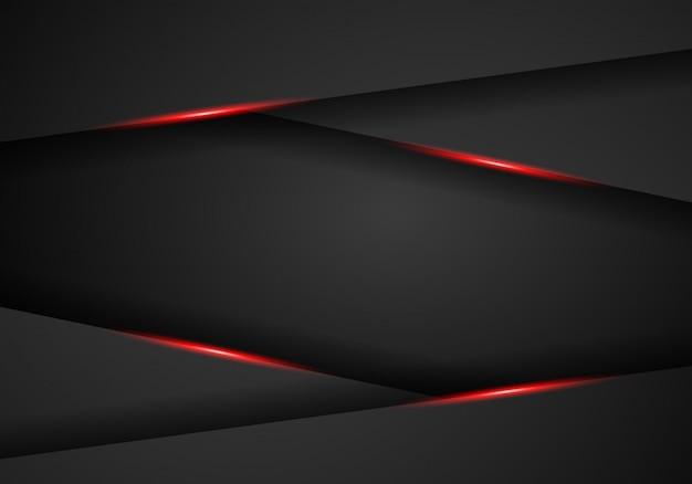 Абстрактный металлический красный черный фон макета рамки