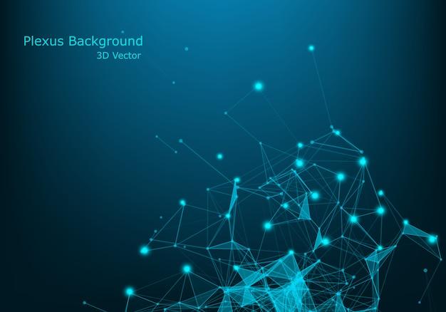 Абстрактный фон технологии. наука фон. большие данные. фон . эффект сплетения. структура сетевого подключения.