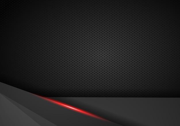 Абстрактная металлическая черная красная рамка спортивного дизайна концепции инновационного фона.