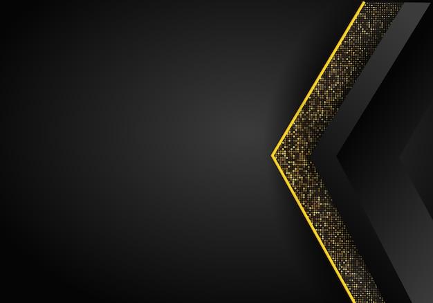 Абстрактная роскошная темная предпосылка размера перекрытия на картине металла. золотые блестит полутонов. современный вектор дизайн шаблона.