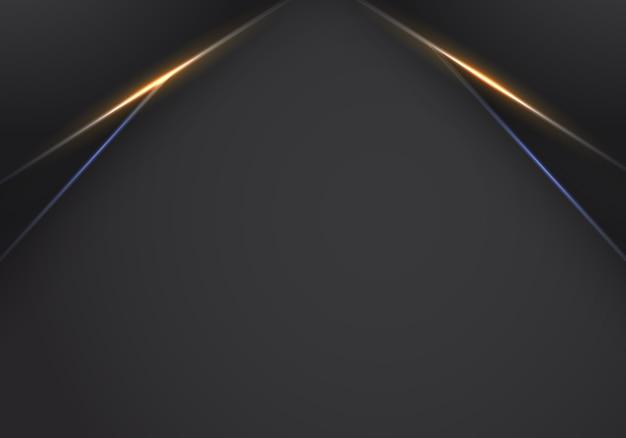 オレンジ黒のフレームレイアウトのモダンなハイテクデザイン