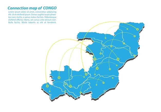 コンゴの現代地図接続ネットワーク設計