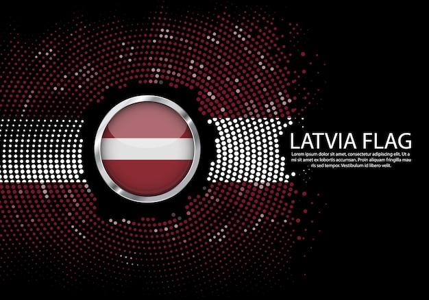 Фон график градиента полутонов флага латвии.
