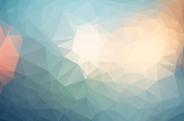 三角形からなる多色多角形イラスト。