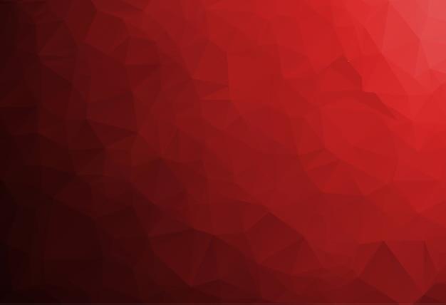 赤い多角形モザイクの背景、クリエイティブなデザインテンプレート
