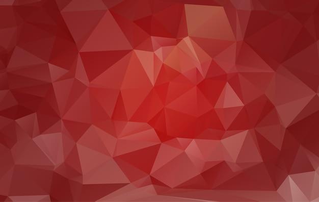 三角形からなる赤い多角形のイラスト。