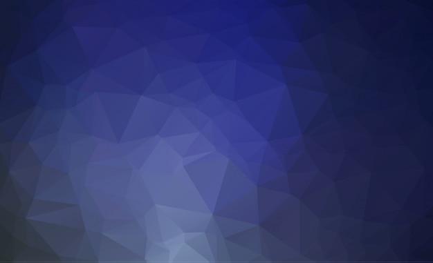 抽象的な青多角形イラスト