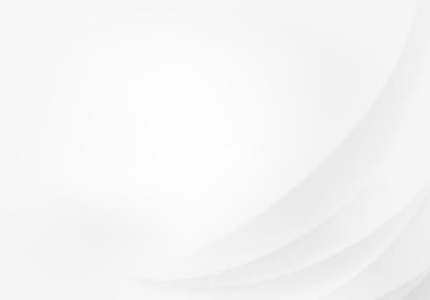 Абстрактный белый фон с плавными линиями