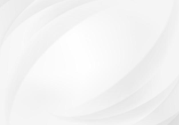 抽象的な曲線の白と灰色の背景