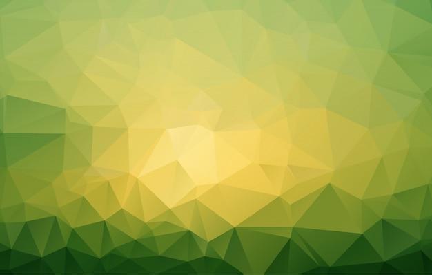 抽象的な緑の多角形モザイクの背景