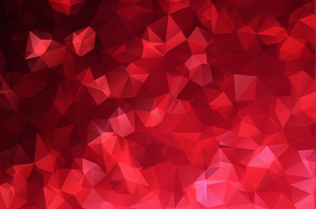 赤い白い多角形モザイクバックグラウンド