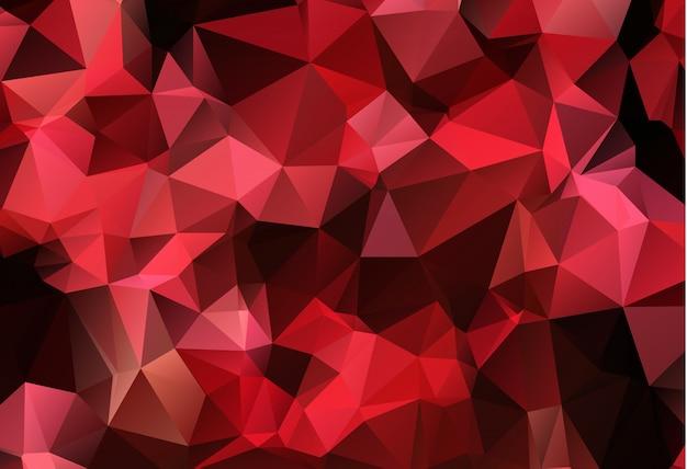 赤い白い多角形モザイクの背景