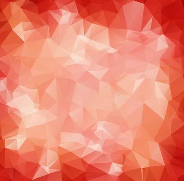 赤い白い多角形のモザイクの背景