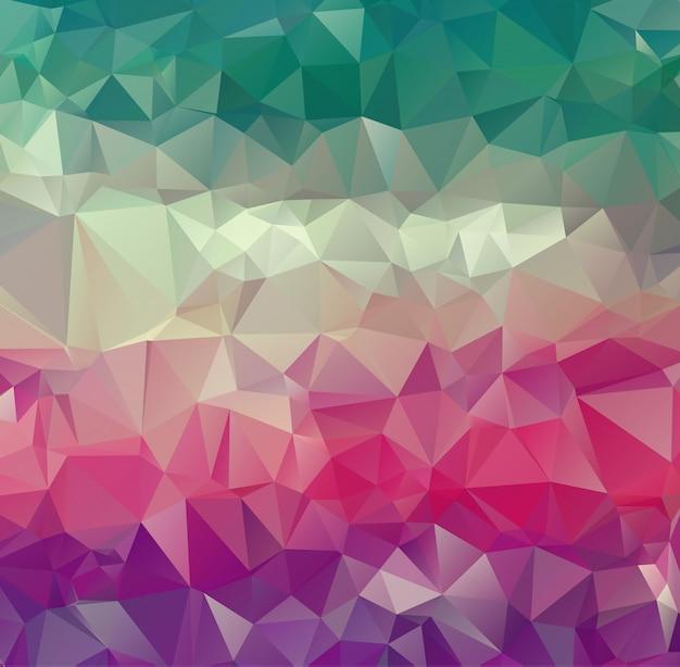 ベクトル抽象的な不規則なポリゴンの背景、フルカラーの三角形のパターン。