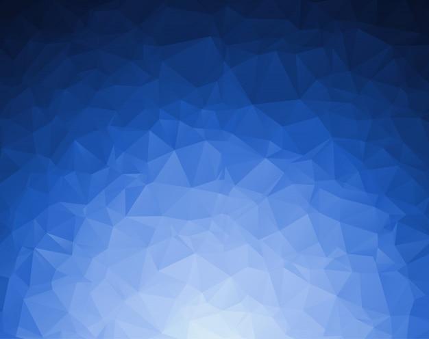 抽象的なダークブルーの多角形のイラストで、三角形で構成されています。