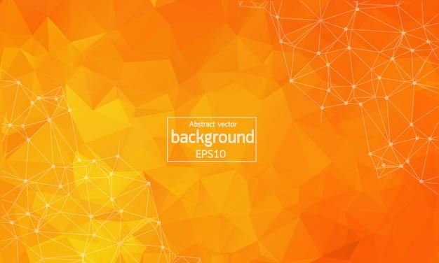抽象的なオレンジ色の幾何学的多角形の背景