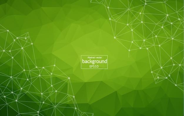 ダークグリーンのベクトルの背景