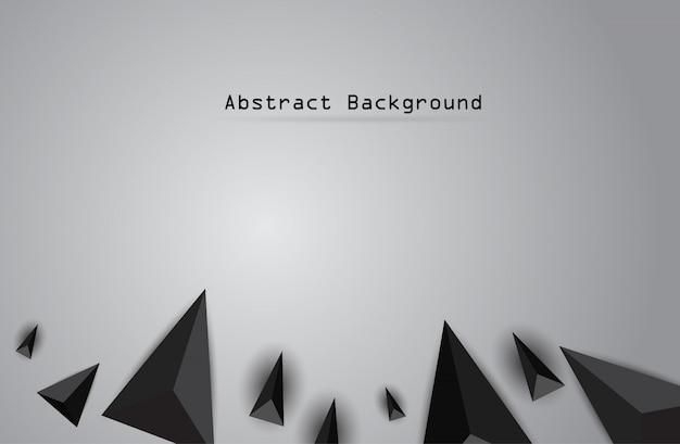 紙折り紙多角形のベクトルの背景。