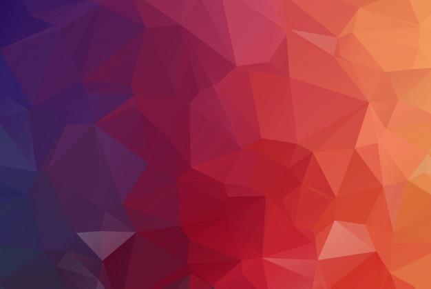 赤の濃い多角形のモザイクの背景。