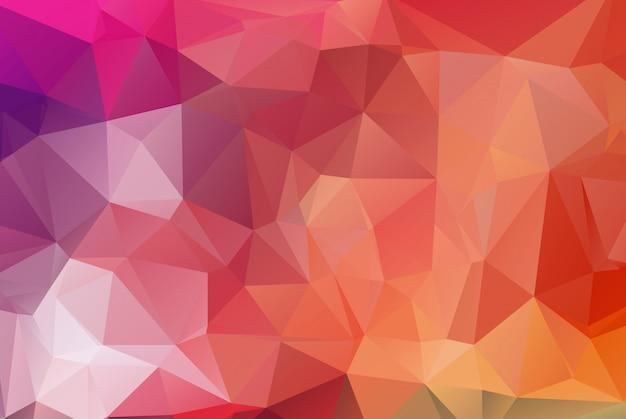 多赤多角形モザイクの背景。